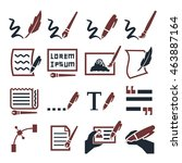 writing icon set | Shutterstock .eps vector #463887164