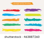 hand painted brush strokes... | Shutterstock .eps vector #463887260