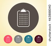 clipboard icon in round shape.   Shutterstock .eps vector #463888040