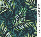 Seamless Pattern With Olive...