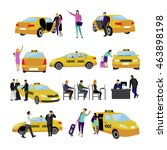set of taxi service icons... | Shutterstock . vector #463898198
