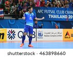 Small photo of BANGKOK THAILAND-JULY15:JETSADA CHUDECH of Chonburi Bluewave celebrates during AFC FUTSAL CLUB CHAMPIONSHIP 2016Match Chonburi Bluewave and Nagoya Oceans at Bangkok Arena Stadium on July15,2016
