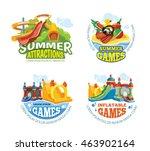 illustration of color emblems...   Shutterstock . vector #463902164