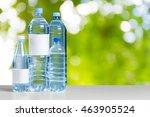 plastic water bottle on the...   Shutterstock . vector #463905524