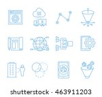 simple seo icons set and web...