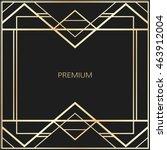 vector geometric frame in art... | Shutterstock .eps vector #463912004