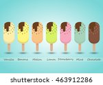 set of multi flavour sweet ice... | Shutterstock .eps vector #463912286