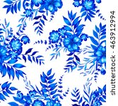 seamless floral pattern with... | Shutterstock . vector #463912994