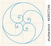 golden proportion | Shutterstock .eps vector #463917146