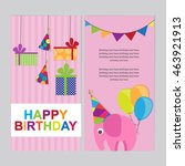 happy birthday card | Shutterstock .eps vector #463921913