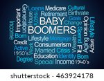 baby boomers word cloud on blue ...   Shutterstock . vector #463924178