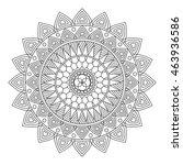 floral mandala  vector... | Shutterstock .eps vector #463936586