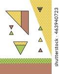 trendy geometric elements... | Shutterstock .eps vector #463940723