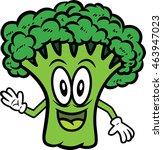 broccoli cartoon | Shutterstock .eps vector #463947023