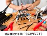 assembler of flying drone | Shutterstock . vector #463951754