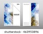 brochure layout template flyer... | Shutterstock .eps vector #463953896