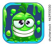 app icon with funny green slimy ...