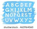 illustration of an alphabet set ... | Shutterstock . vector #463964060