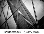 modern architecture black and... | Shutterstock . vector #463974038
