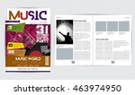 magazine layout | Shutterstock .eps vector #463974950