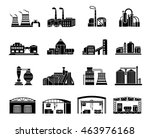 set of factory building ... | Shutterstock . vector #463976168