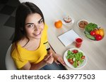 Healthy Food Concept. Young...