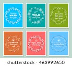vector collection of colorful... | Shutterstock .eps vector #463992650