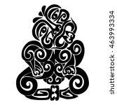 tiki   the main deity maori. | Shutterstock .eps vector #463993334