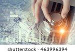 woman open safe . mixed media | Shutterstock . vector #463996394
