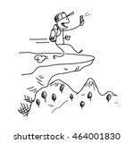dangerous smartphone... | Shutterstock .eps vector #464001830
