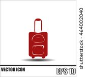 suitcase vector icon | Shutterstock .eps vector #464002040
