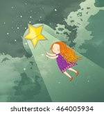 girl chasing her dreams ... | Shutterstock . vector #464005934