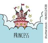 magic fairy tale princess... | Shutterstock .eps vector #464012438