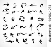 hand drawn arrows  vector set | Shutterstock .eps vector #464014073