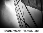 modern architecture black and... | Shutterstock . vector #464032280