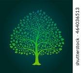green gradation tree | Shutterstock .eps vector #464036513
