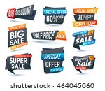 set of creative sale and... | Shutterstock .eps vector #464045060