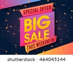 special offer big sale for this ... | Shutterstock .eps vector #464045144