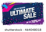 ultimate sale banner template... | Shutterstock .eps vector #464048018