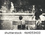 Family Relaxing In Tuileries...