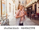 young woman on summer vacation  ... | Shutterstock . vector #464062598