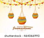 creative illustration poster or ... | Shutterstock .eps vector #464066993