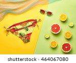 fashion. tropical fruit citrus  ... | Shutterstock . vector #464067080