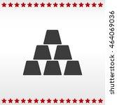 icon of gold bullion.  | Shutterstock .eps vector #464069036