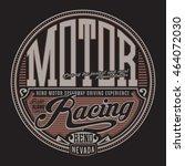 racing motor typography  t... | Shutterstock .eps vector #464072030