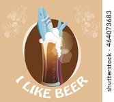 i like beer and fish  | Shutterstock .eps vector #464073683