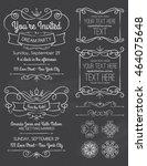chalkboard swirl invitations... | Shutterstock .eps vector #464075648