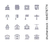 buildings icons | Shutterstock .eps vector #464078774