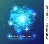 triangular geometric shape... | Shutterstock .eps vector #464082134
