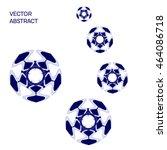 abstract vector blue balls...